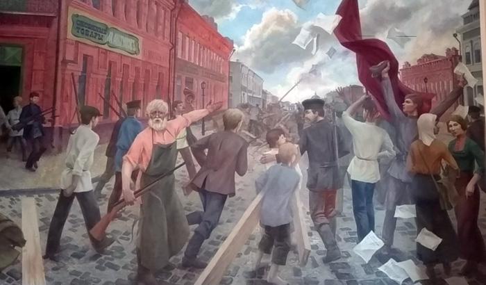 Восстание на Саратовской, 1906 год. Художник Сергей Лебедев